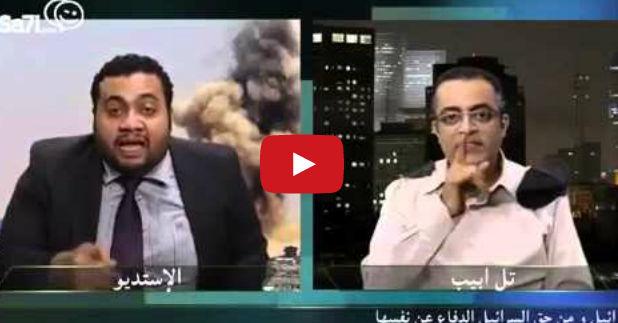 فيديو مسخره لصحفي مصري مع المتحدث الاسرائيل