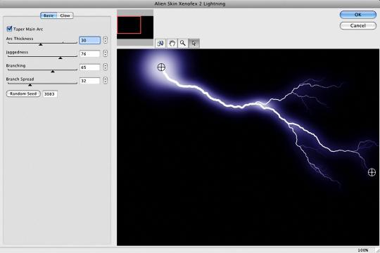 فلتر عمل البرق مع 14 تأثير رائع Xenofex 2