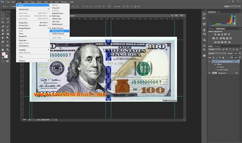 الفوتوشوب cc 2015 يكشف العملات المزوره