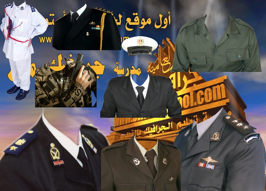 ملابس بدل عسكريه شرطه و جيش وبحريه مفرغه للاستوديوهات