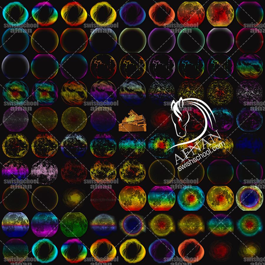 سكرابز دوائر فيري بالوان خياليه بدون خلفيه للفوتوشوب png