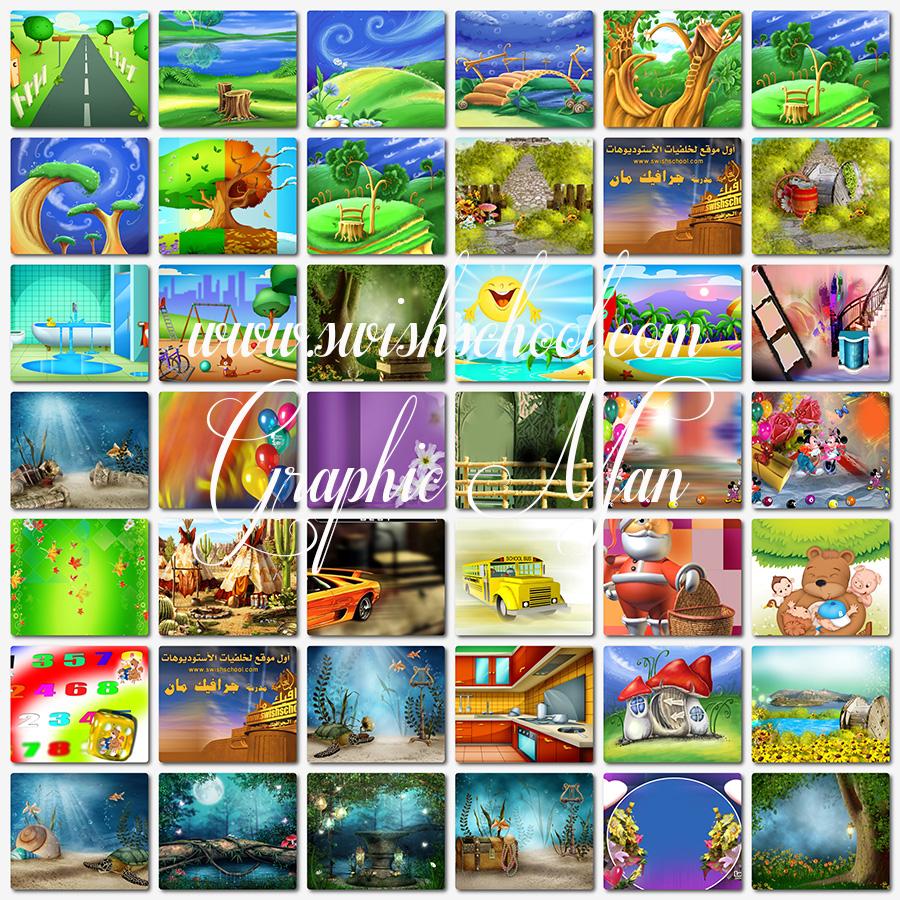 خلفيات اطفال لتصاميم الاستديوهات والفوتوشوب jpg