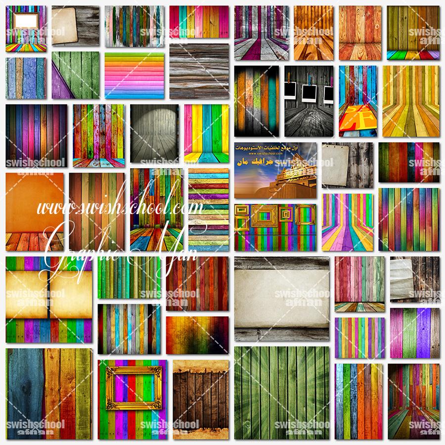 خامات جرافيك خشب ملون عاليه الجوده للتصميم jpg