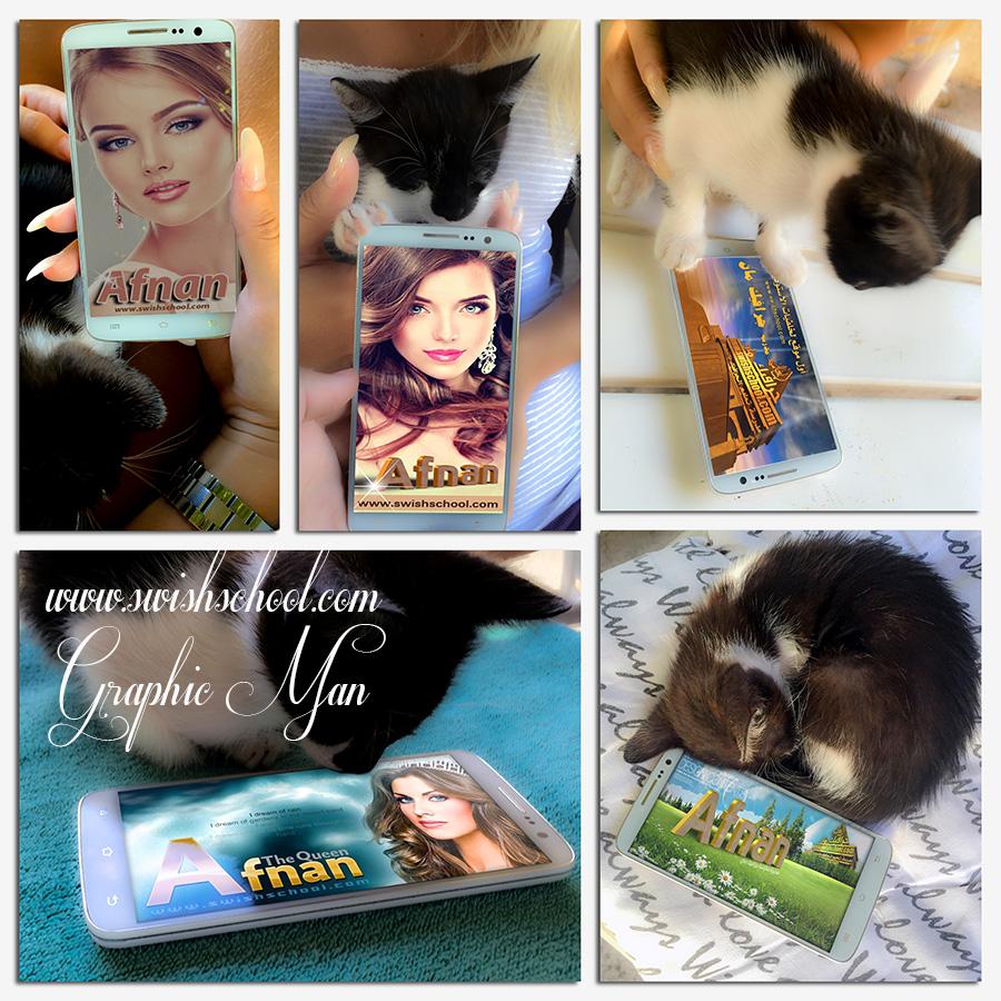 موكب اب صور الفيس بوك الرومانسيه مع القطط psd mockup
