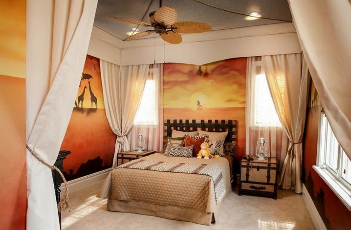 تصاميم خياليه لغرف نوم الاطفال من افلام الكارتون