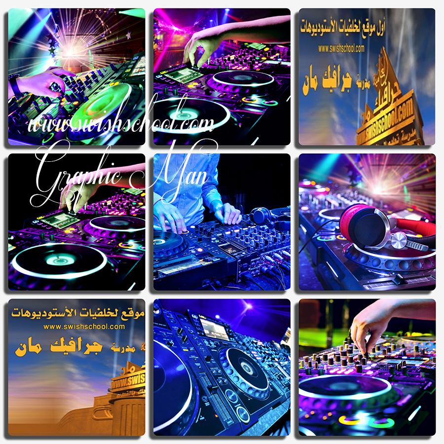 ستوك فوتو دي جي موسيقى عاليه الدقه لتصاميم الفوتوشوب jpg