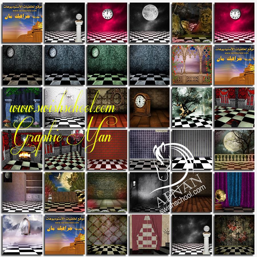 خلفيات استديو ساحره jpg - خلفيات ارضيات الشطرنج الخياليه لتصاميم الجرافيك - الجزء الاول