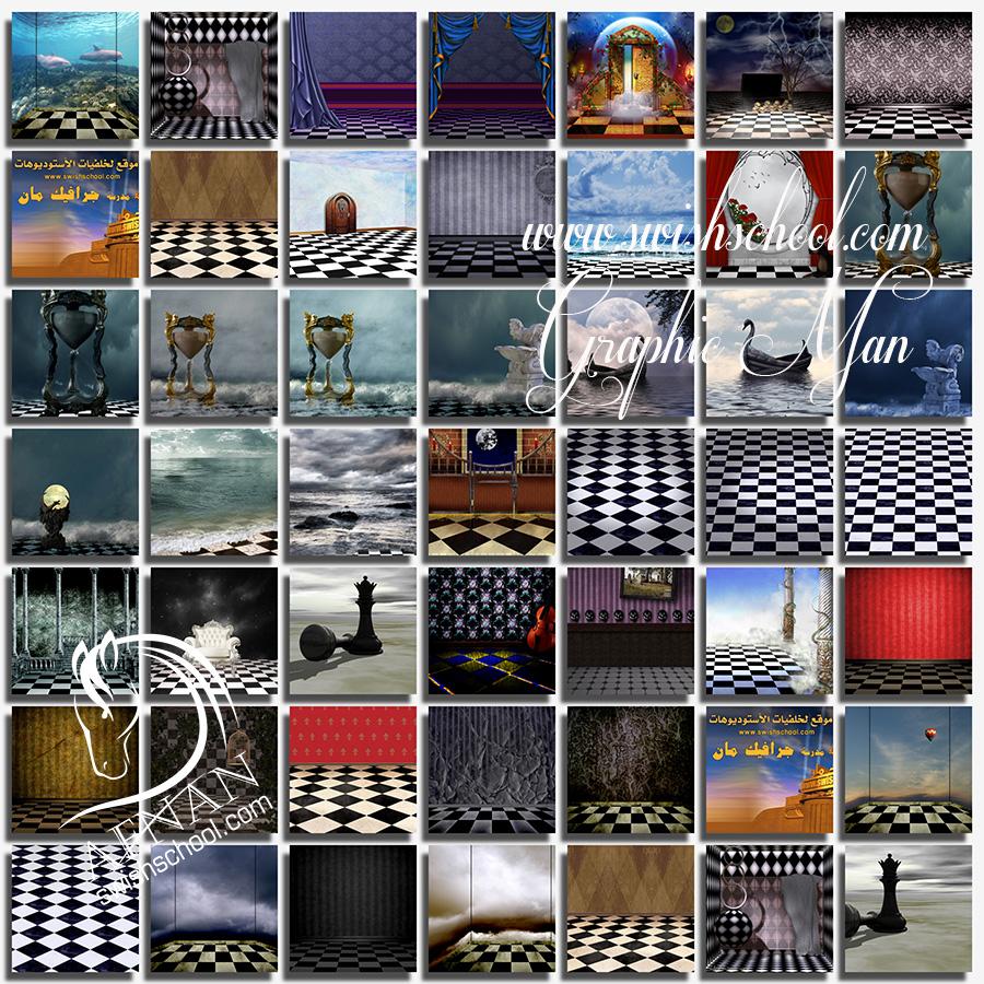 خلفيات استديو ساحره jpg - خلفيات ارضيات الشطرنج الخياليه لتصاميم الجرافيك - الجزء الثاني