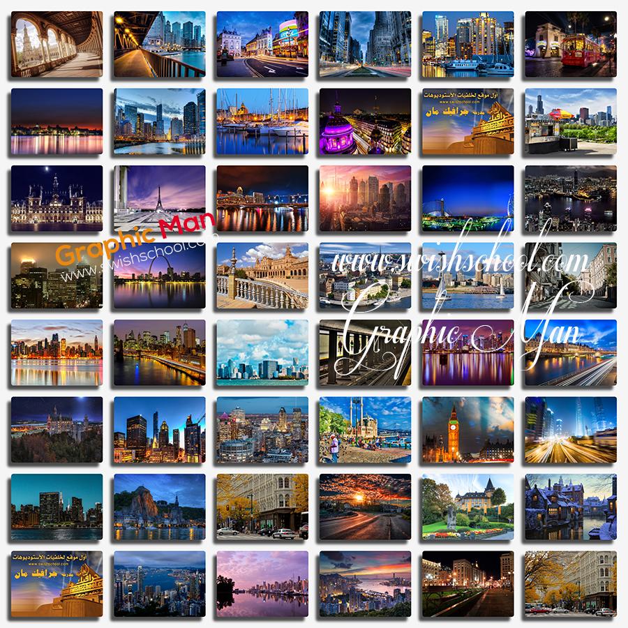 تحميل اجمل خلفيات المدن الساحره بجوده عاليه للتصميم وسطح المكتب jpg