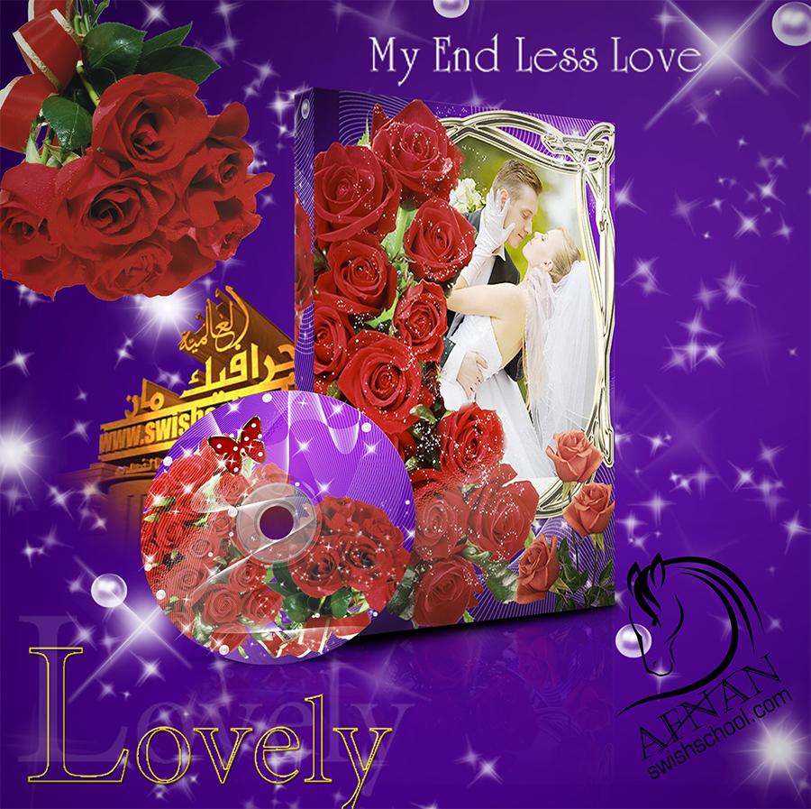 غلاف البومات التصوير ليزر للاستوديوهات زهور حمراء رومانسيه psd