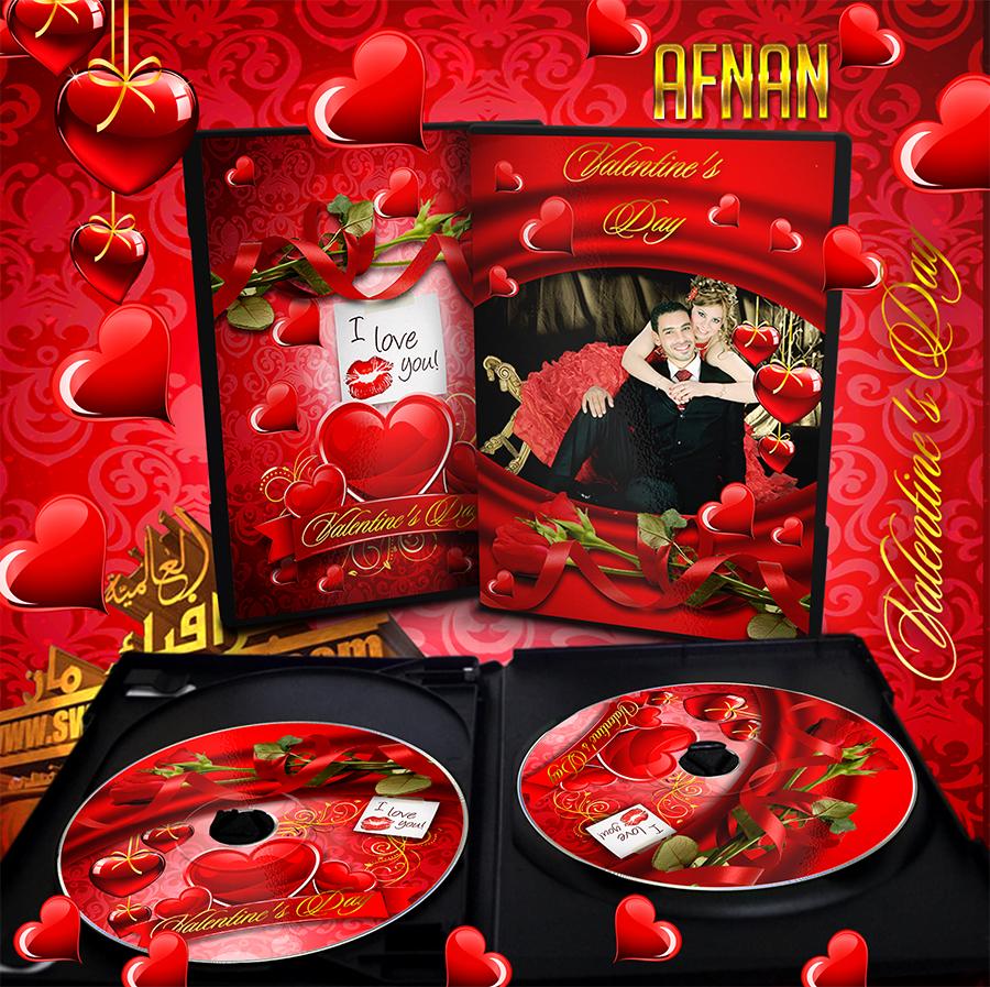 غلاف البومات التصوير ليزر للاستوديوهات قلوب حمراء رومانسيه شيك psd