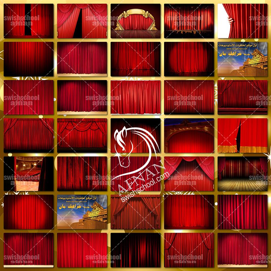 تحميل اروع خلفيات ستائر المسرح باللون الاحمر للفوتوشوب والاستديوهات بجوده عاليه jpg