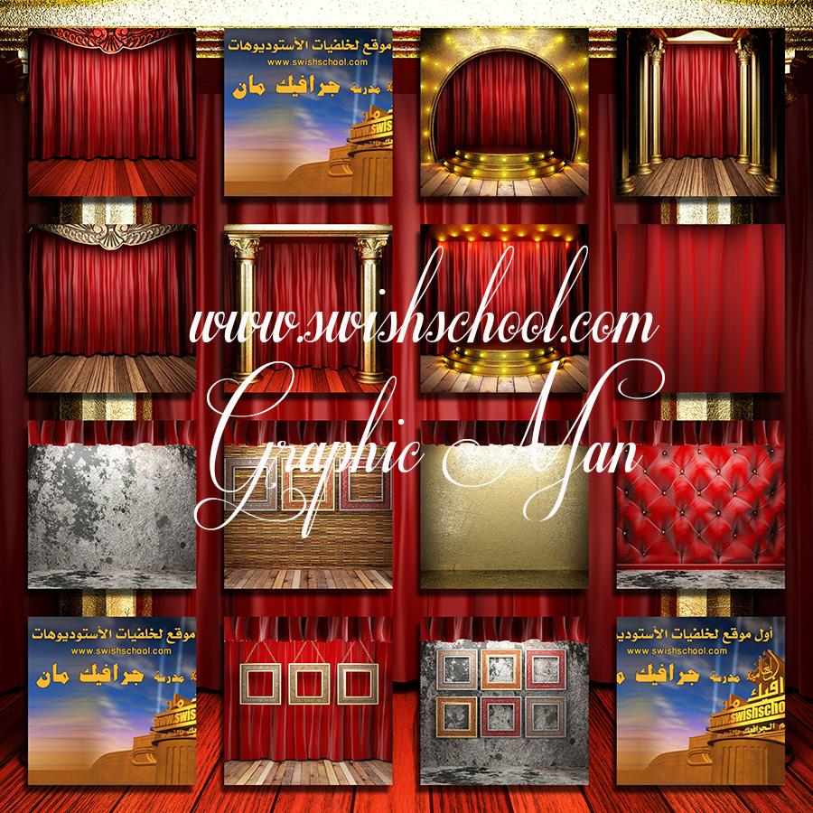 خلفيات ستائر المسرح الفخمه لاستديوهات التصوير jpg - خلفيات حمراء عاليه الجوده تصميم