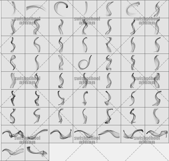فرش فوتوشوب تموجات وخصلات ناعمه لتصميم احترافي