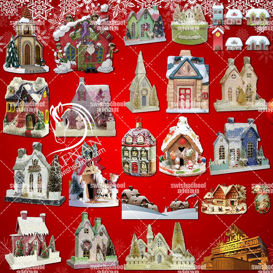 كليب ارت بيوت كريسماس لتصاميم العام الجديد png