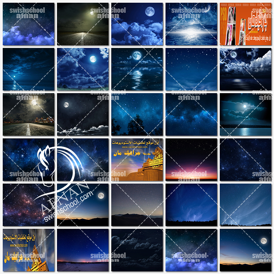 اجمل خلفيات القمر والليل jpg - خلفيات ليليه ساحره عاليه الجوده للتصميم