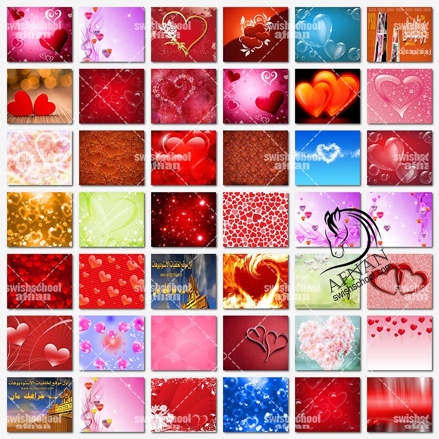 خلفيات فوتوشوب قلوب رومانسيه عاليه الجوده للفوتوشوب jpg