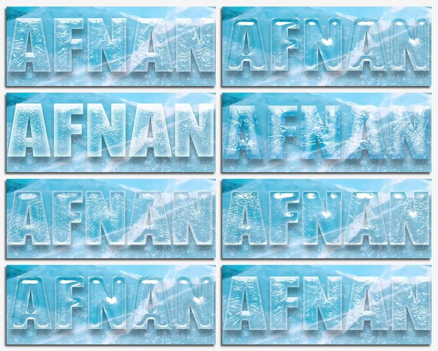 ستايلات فوتوشوب وملفات مفتوحه جليد وتجمد لتصاميم الشتاء psd ,asl