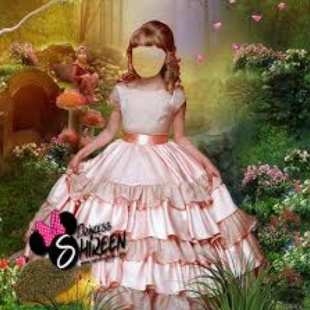 قالب تركيب وجه طفلة أميرة جميلة وسط الزهور psd للتعديل عليه عالى الجودة لاصحاب الاستوديوهات مدرسة جرافيك مان