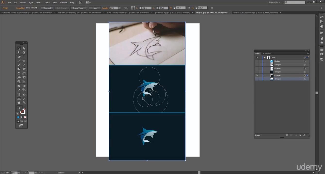 تعلم برنامج الاليستراتور فى ساعة مع كورس Learn illustrator 1 one hour