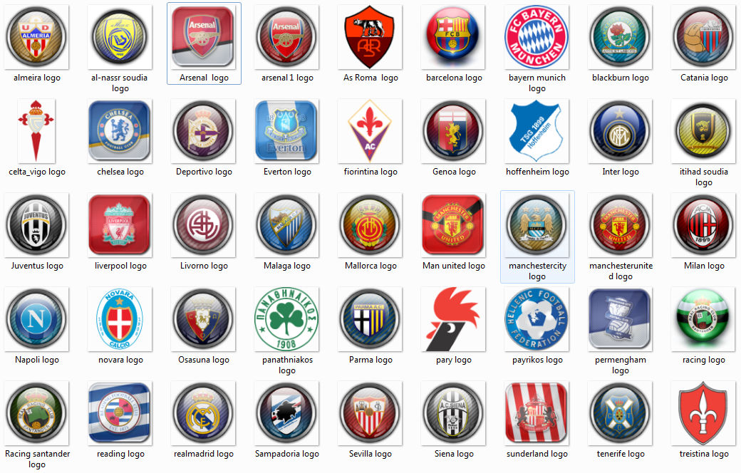 تحميل شعارات اندية كرة القدم العالمية