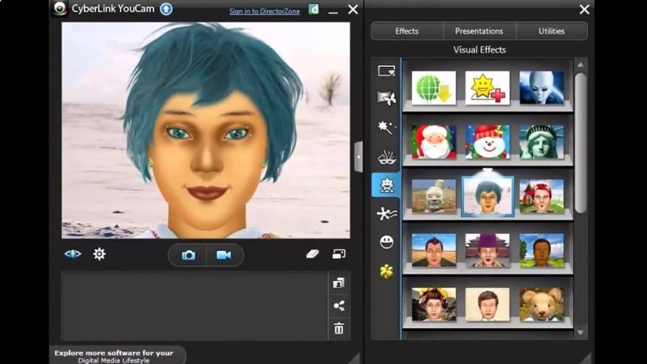 برنامج لمستخدمي الكام, برنامج اضافة تأثيرات على الكاميرات, برنامج CyberLink YouCam Deluxe 7.0.1511.0