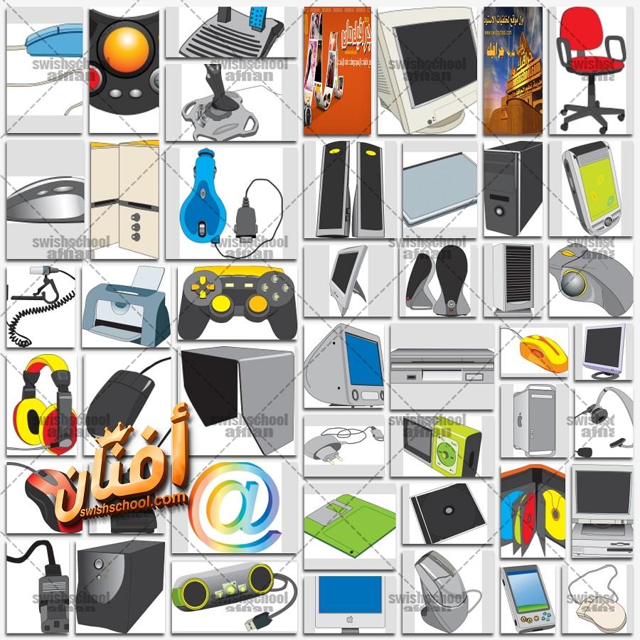 ملفات فيكتور جميع اجزاء الكمبيوتر لتصاميم الدعايه والاعلان eps
