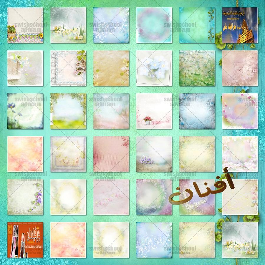 خلفيات الربيع بالوان هاديه عاليه الجوده لتصاميم الدمج للفوتوشوب jpg