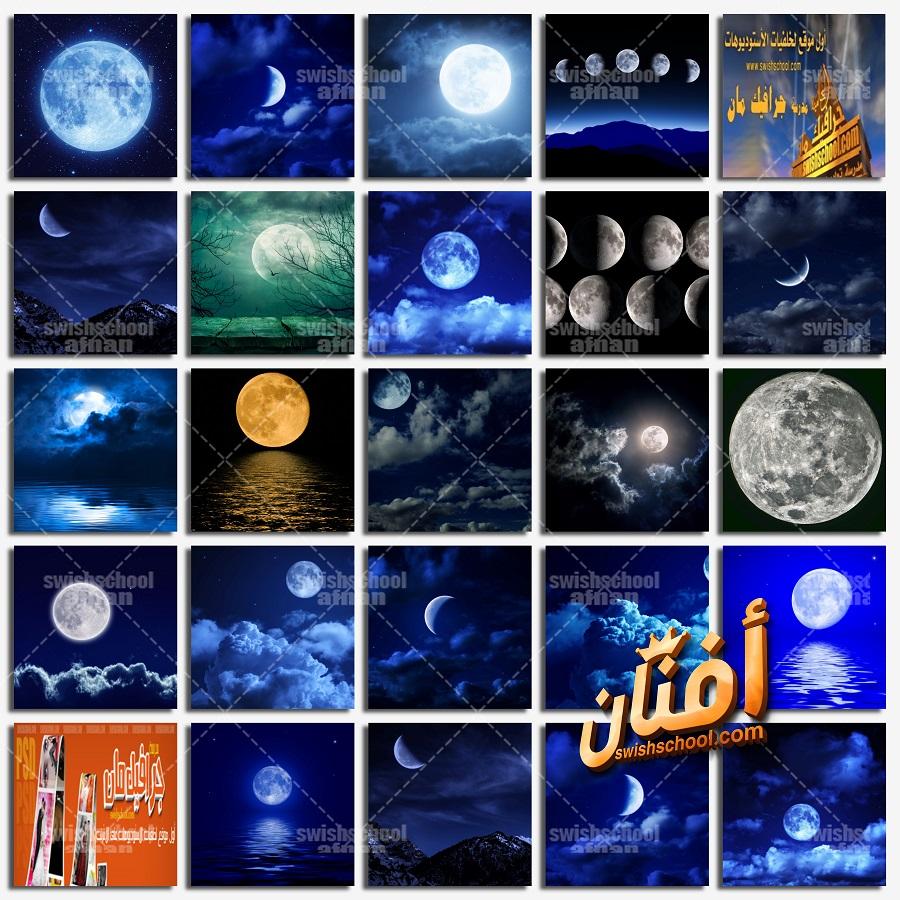 خلفيات قمر وبدر وليل عاليه الجوده للتصاميم الاسلاميه والفوتوشوب jpg