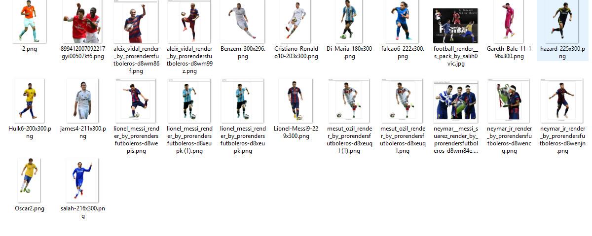 لاعبي كرة القدم للمصممين