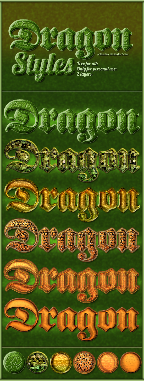 استايلات التنين, استايلات فوتوشوب التنين, استايلات فوتوشوب دراجون, استايل فوتوشوب Dragon