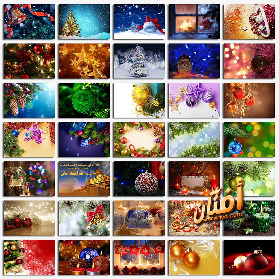 خلفيات فوتوشوب زينه الكريسماس عاليه الجوده لتصاميم العام الجديد jpg
