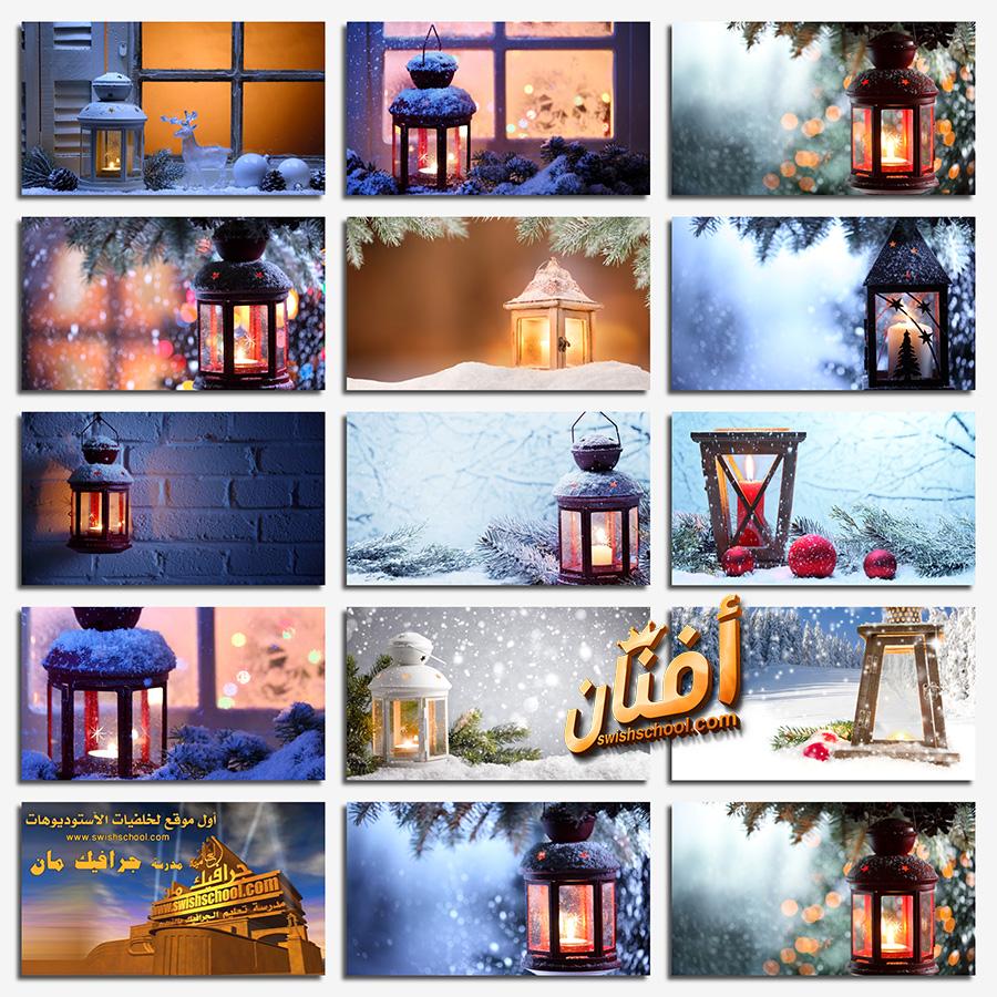 خلفيات مصابيح ليله الكريسماس عاليه الجوده لتصاميم العام الجديد jpg