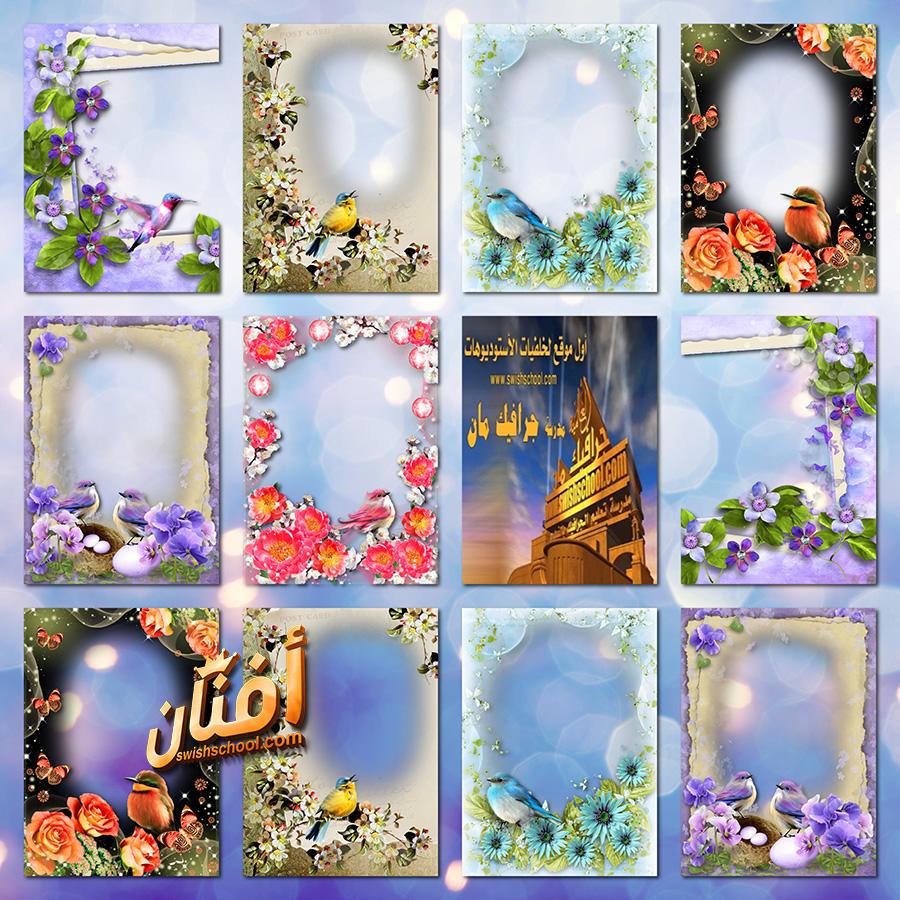فريمات رومانسيه مع العصافير المغرده png - اجمل فريمات الربيع للصور