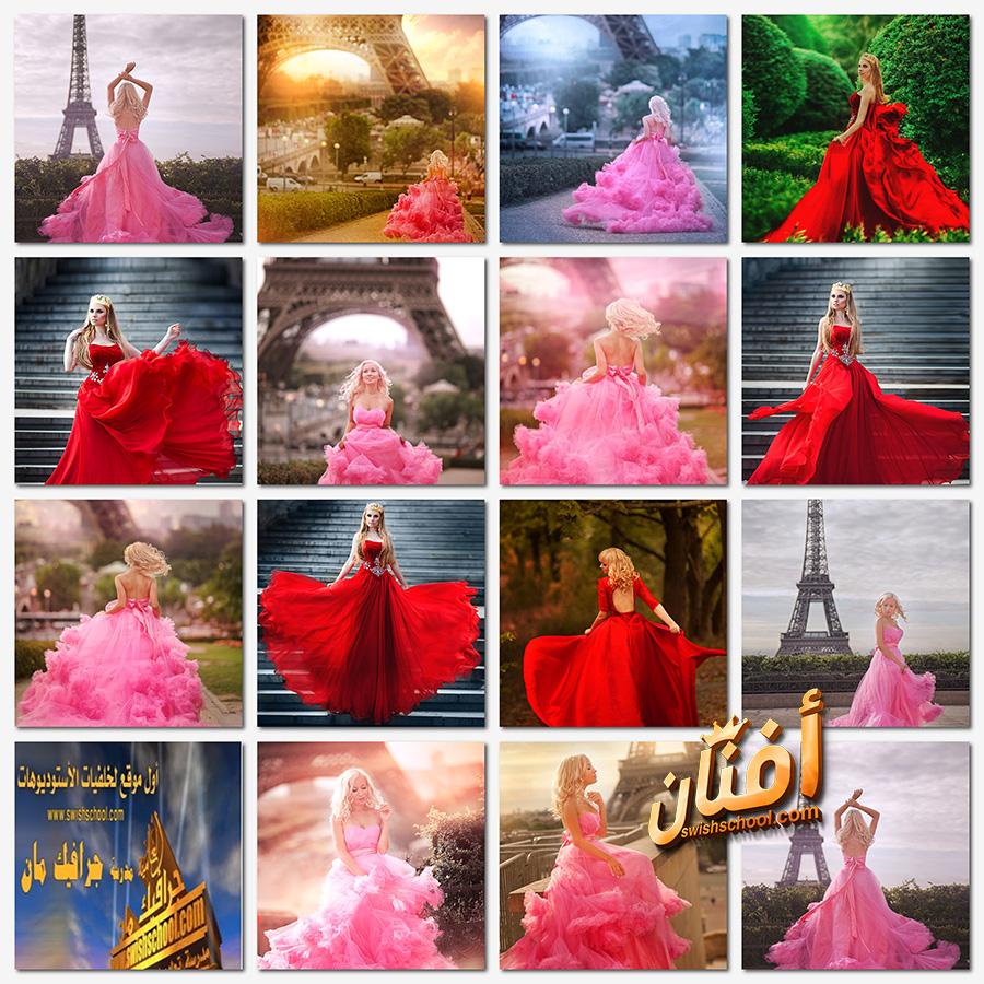 صور بنات رومانسيه بفستان فخم عاليه الجوده لتصاميم الفوتوشوب jpg