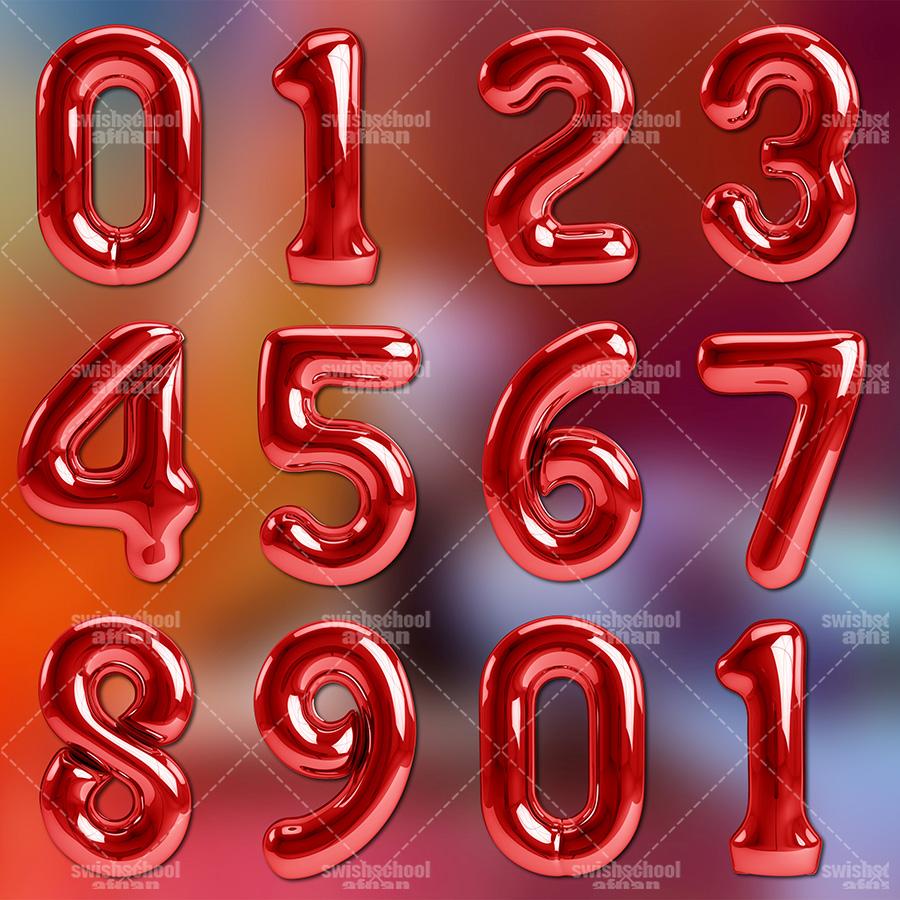 تحميل ارقام بالونات مفتوحه المصدر عالي الجوده  للفوتوشوب psd