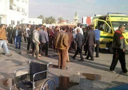 54 شهيدا و85 مصابا فى حادث تفجير مسجد الروضة بالعريش