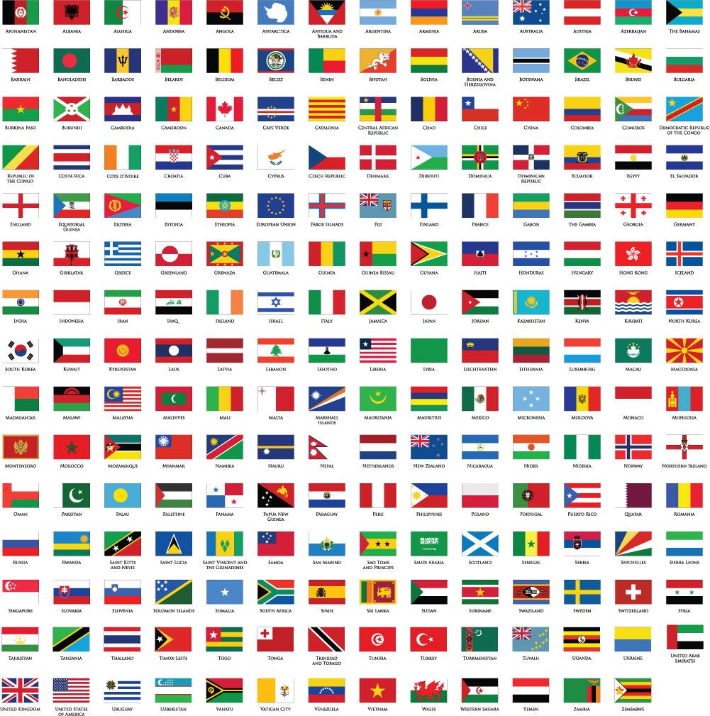 اعلام دول العالم فيكتور جرافيك مان