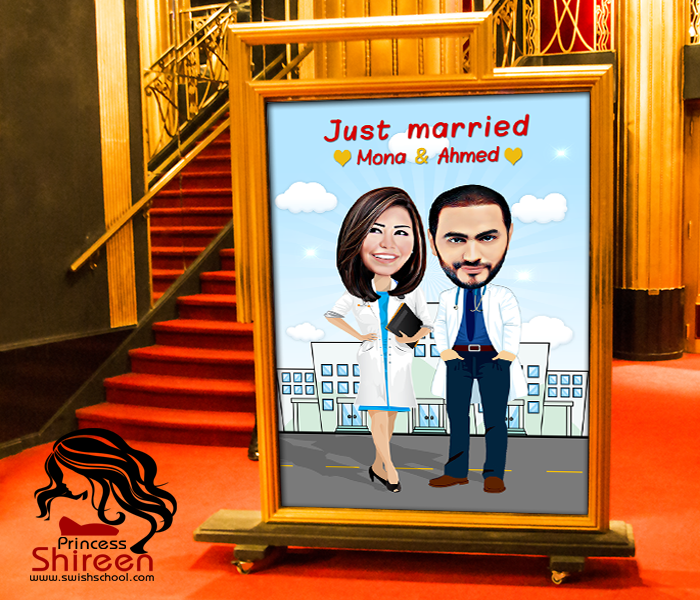 wedding cartoon poster 1 صوره فرح كارتون wedding cartoon poster