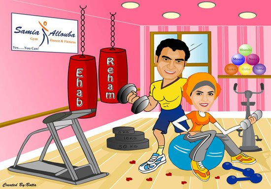 wedding cartoon poster 19 صوره فرح كارتون wedding cartoon poster