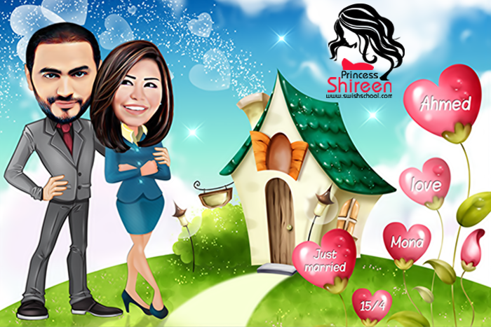 wedding cartoon poster 2 صوره فرح كارتون wedding cartoon poster