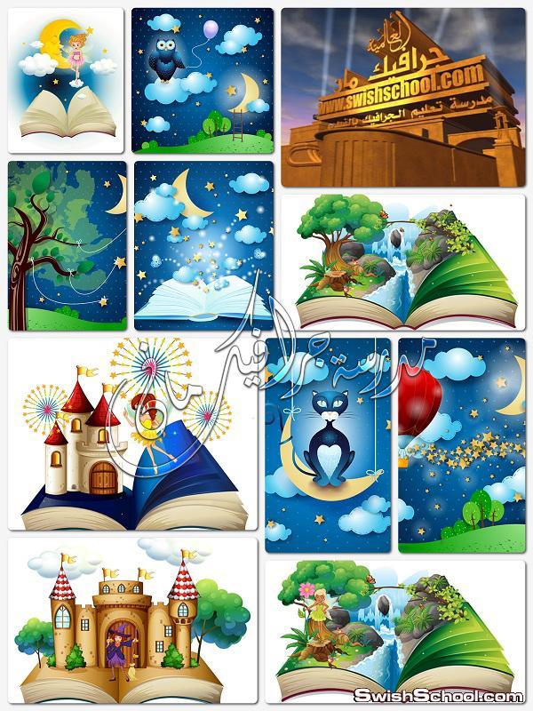 فيكتور جرافيك عالم فيري الخيالي لتصاميم الاطفال 1 فيكتور جرافيك عالم فيري الخيالي لتصاميم الاطفال