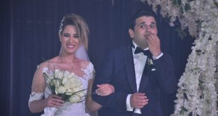 صور و فيديو زفاف مصطفى خاطر نجم مسرح مصر