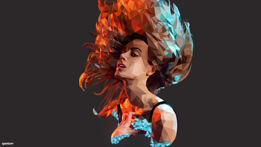 low poly effect 10 ماهو فن لو بولي Low poly