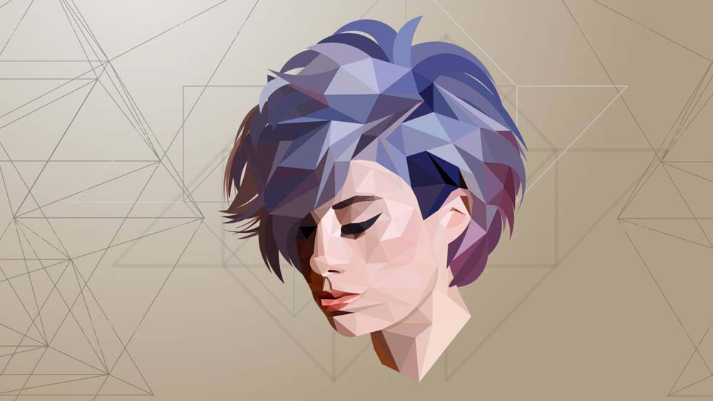 low poly effect 11 ماهو فن لو بولي Low poly