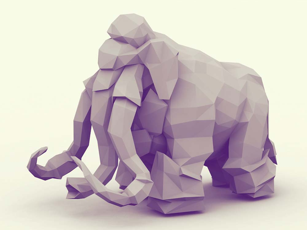 low poly effect 2 ماهو فن لو بولي Low poly