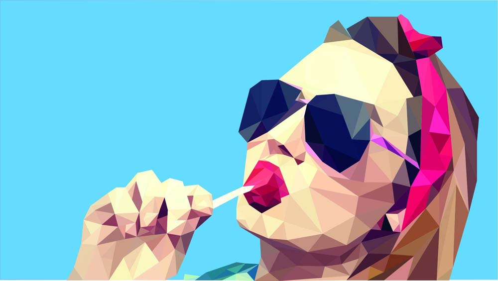 low poly effect 4 ماهو فن لو بولي Low poly