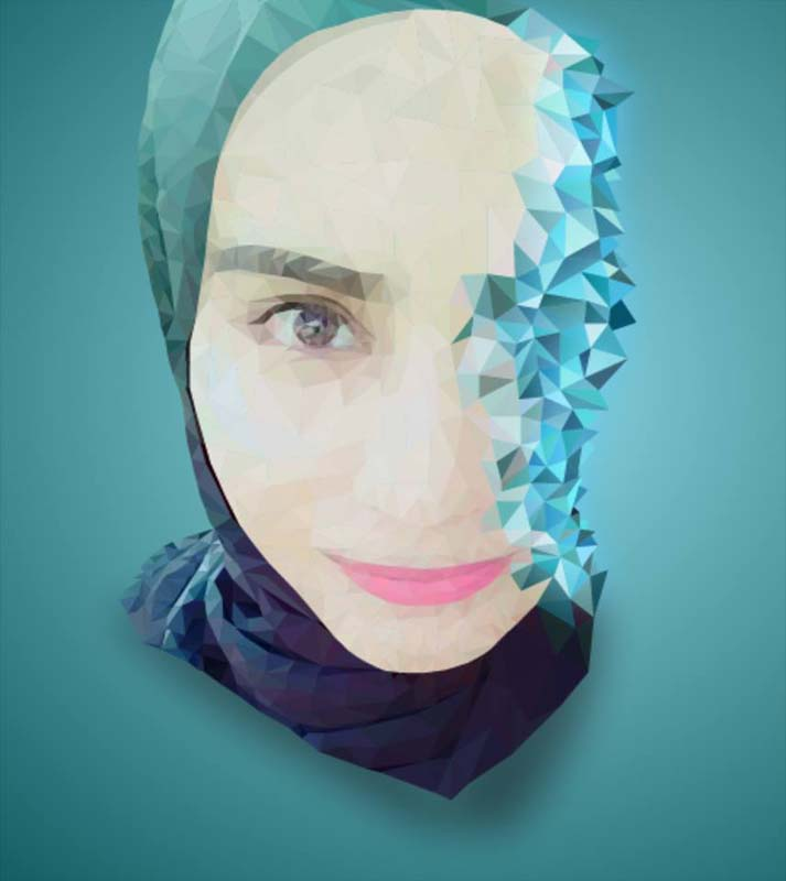 low poly effect 8 ماهو فن لو بولي Low poly