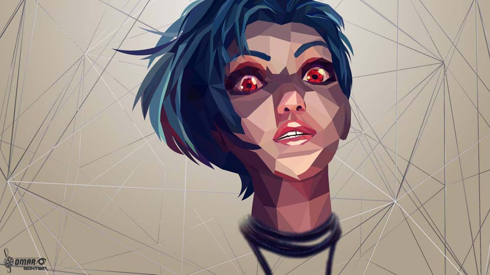 low poly effect 9 ماهو فن لو بولي Low poly