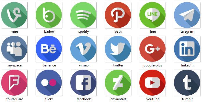 تحميل ايقونات مواقع التواصل الاجتماعي بدون خلفيه جرافيك مان